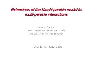 Extensions of the Kac N-particle model to  multi-particle interactions