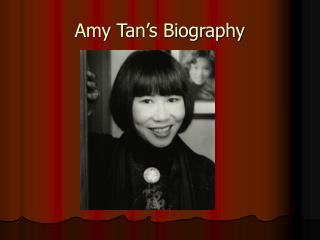 Amy Tan's Biography