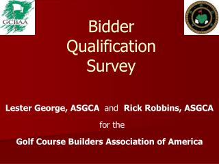 Bidder  Qualification  Survey