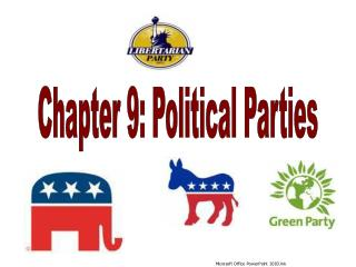 Chapter 9: Political Parties