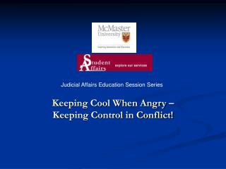 Keeping Cool When Angry – Keeping Control in Conflict!