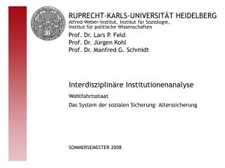 Interdisziplinäre Institutionenanalyse