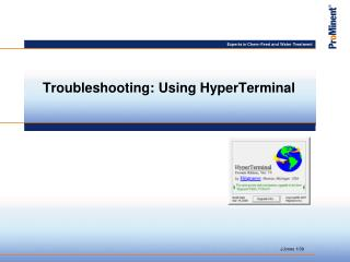 Troubleshooting: Using HyperTerminal