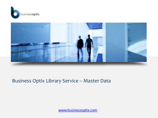 Business Optix Library Service – Master Data