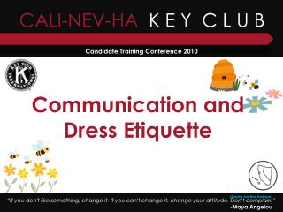 Communication and Dress Etiquette