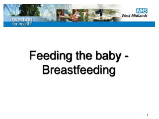 Feeding  the  baby -  Breastfeeding