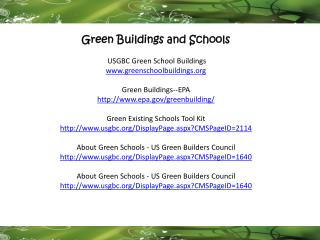Green Buildings and Schools  USGBC Green School Buildings