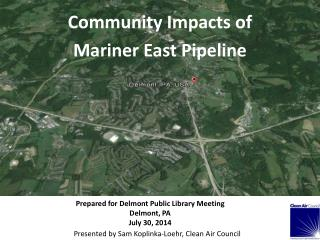 Community Impacts of Mariner East Pipeline