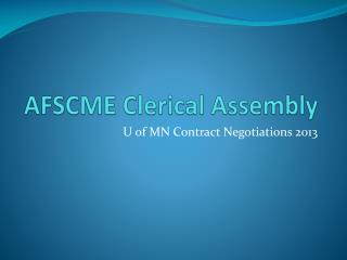 AFSCME Clerical Assembly