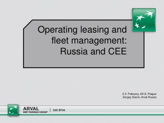 Operating leasing and fleet management: Russia and CEE