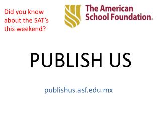 PUBLISH US