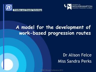A model for the development of work-based progression routes
