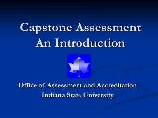 Capstone Assessment An Introduction