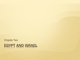 Egypt and Israel