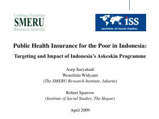 Public Health Insurance for the Poor in Indonesia: