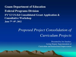 Guam Department of Education  Federal Programs Division
