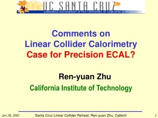 Comments on  Linear Collider Calorimetry Case for Precision ECAL?