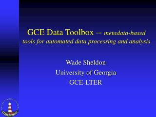 GCE Data Toolbox -- metadata-based tools for automated data processing and analysis