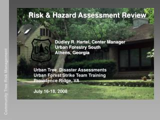 Risk & Hazard Assessment Review