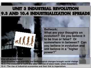 Unit 3 Industrial Revolution 9.3 and 10.4 Industrialization Spreads