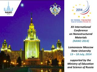 XII International Conference  on Nanostructured Materials (NANO 2014)