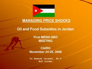 MANAGING PRICE SHOCKS Oil and Food Subsidies in Jordan
