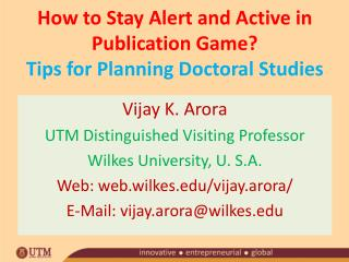 How to Stay Alert and Active in Publication Game? Tips for Planning Doctoral Studies