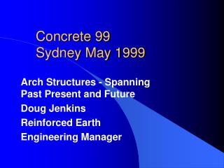 Concrete 99 Sydney May 1999