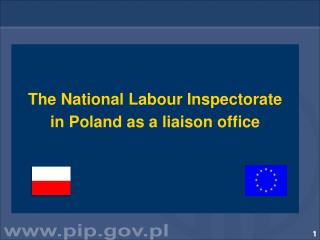 The National Labour Inspectorate  in Poland  as a liaison office