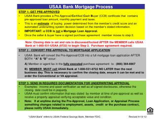 USAA Bank Mortgage Process