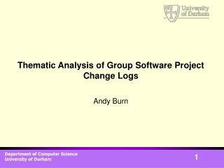 Thematic Analysis of Group Software Project Change Logs