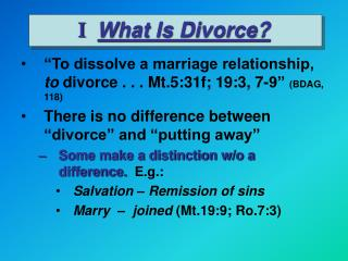 I What Is Divorce?