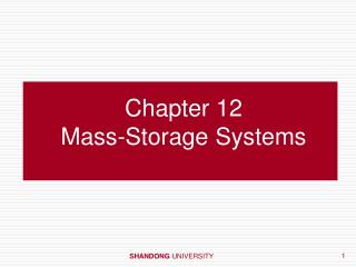 Chapter 12  Mass-Storage Systems