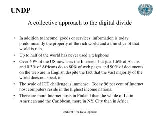 A collective approach to the digital divide