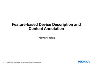 Feature-based Device Description and Content Annotation