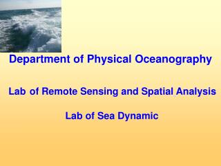 Lab of Remote Sensing and Spatial Analysis