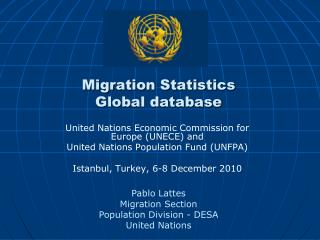 Migration Statistics  Global database