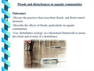 Floods and disturbances in aquatic communities Outcomes