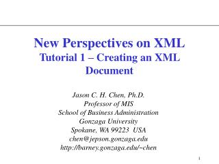 New Perspectives on XML Tutorial 1 – Creating an XML Document