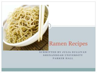 Ramen Noodle Recipes
