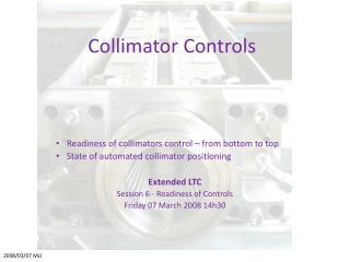 Collimator Controls