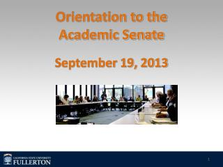 Orientation to the  Academic Senate