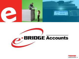 What is e-BRIDGE Accounts? Why e-BRIDGE Accounts? How it works Tabular & Graphical Reports