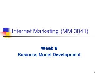 Internet Marketing (MM 3841)