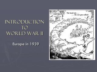 Introduction to World War II