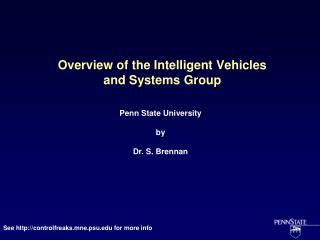 Overview of the Intelligent Vehicles and Systems Group