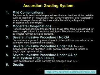 Accordion Grading System