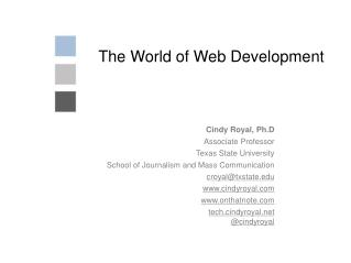 The World of Web Development