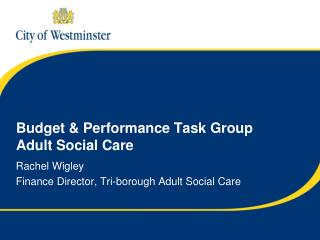 Budget & Performance Task Group Adult Social Care