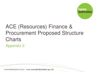 ACE (Resources) Finance & Procurement Proposed Structure Charts